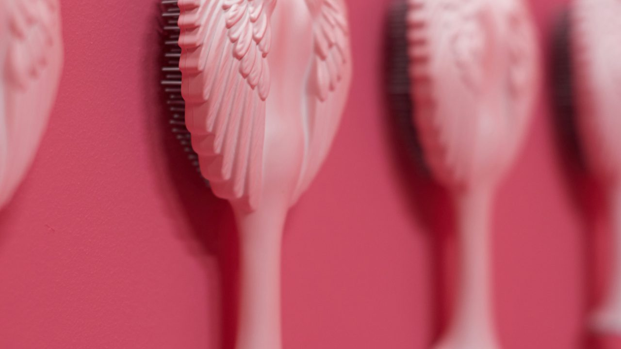 Pink Angel 2.0 – Close Up Brushes On The Wall